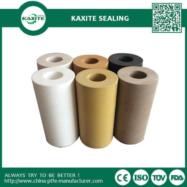 Anti-corrosion Ptfe Teflon Tube Colorful With 55% Bronze & 5% MoS2 Filled