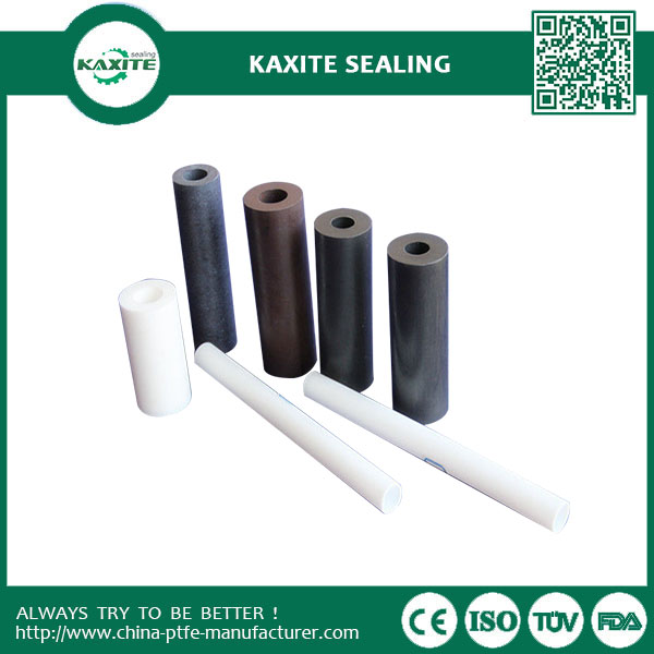Dispersion PTFE Resin Carbon Filled Ptfe Tube  Graphit Filled PTFE Products