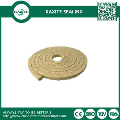 Copper Wire Filled Ptfe Packing Braided With Filamentand For Chemical Compounds