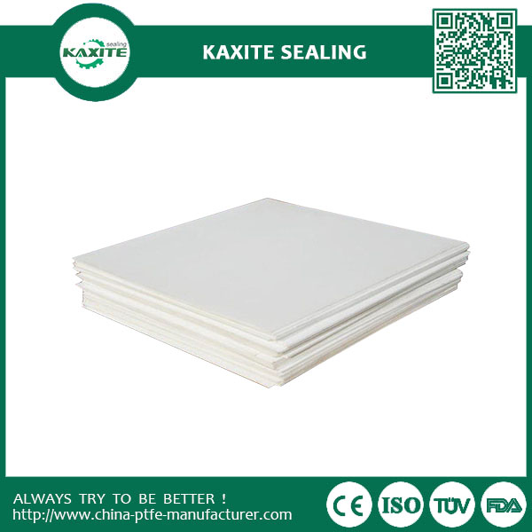 Low Co Eficient Friction Teflon Ptfe Sheet Molded Natural