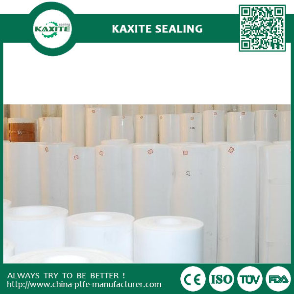 Custom Designed PTFE teflon skiving roll  PTFE Cut Plate  PTFE Skived Sheet with recycled materials