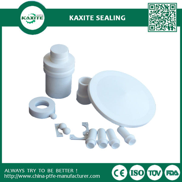 White CNC PTFE Machining Parts Of Ptfe Tube  Ptfe Gaskets  PTFE Sheet