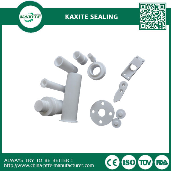 Telfon PTFE Plastic Turning Machining Part  White Non-stick Ptfe