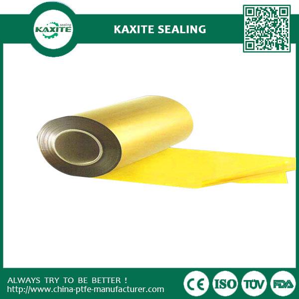 Yellow PTFE Teflon Film Corrosion Resistance  Thin Skived PTFE Seal Tape
