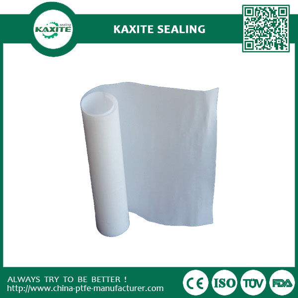 Milky White Teflon Ptfe Sheet Excellent Insulation Property Moulded Sheet