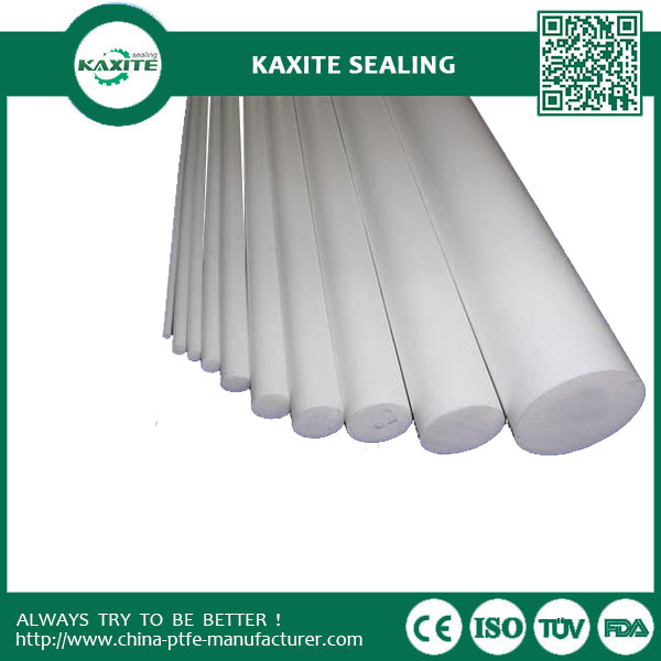 Teflon Ptfe Rod Extruded Rod  Moulded Rod -180°C - +260°C With Best Electrical Properties